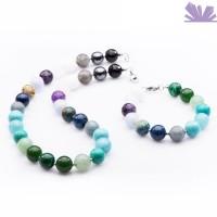 Set mix pietre semipretioase bleu verde