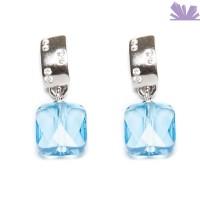 Cercei Argint Amina Aquamarine