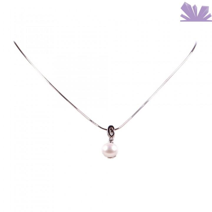 Colier Argint Delicate Perla