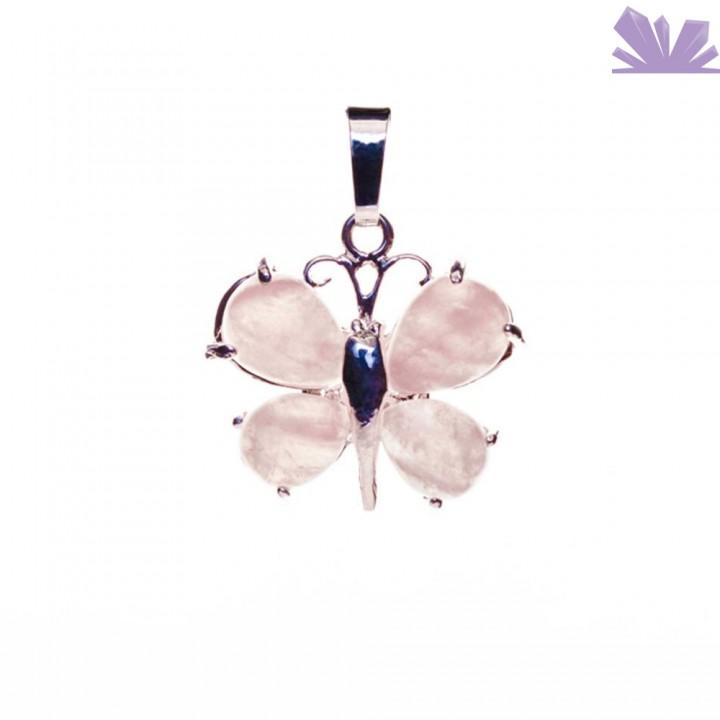 Pandantiv fluture Cuart Roz