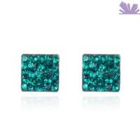 Cercei argint Emerald Treasure 0.6 cm
