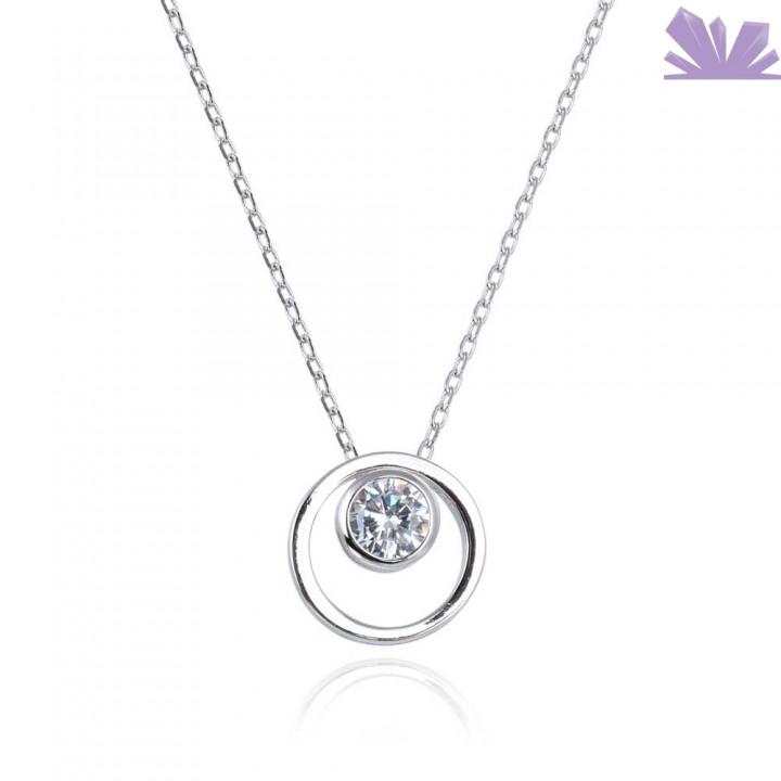 Lantisor argint Frozen Crystal 46 cm