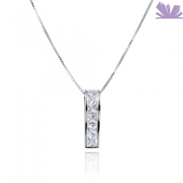 Lantisor argint Frosted Edge 43 cm