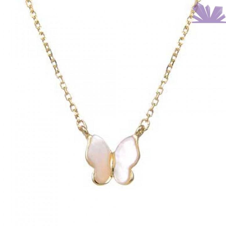 Lantisor argint 925 Butterfly 43 cm