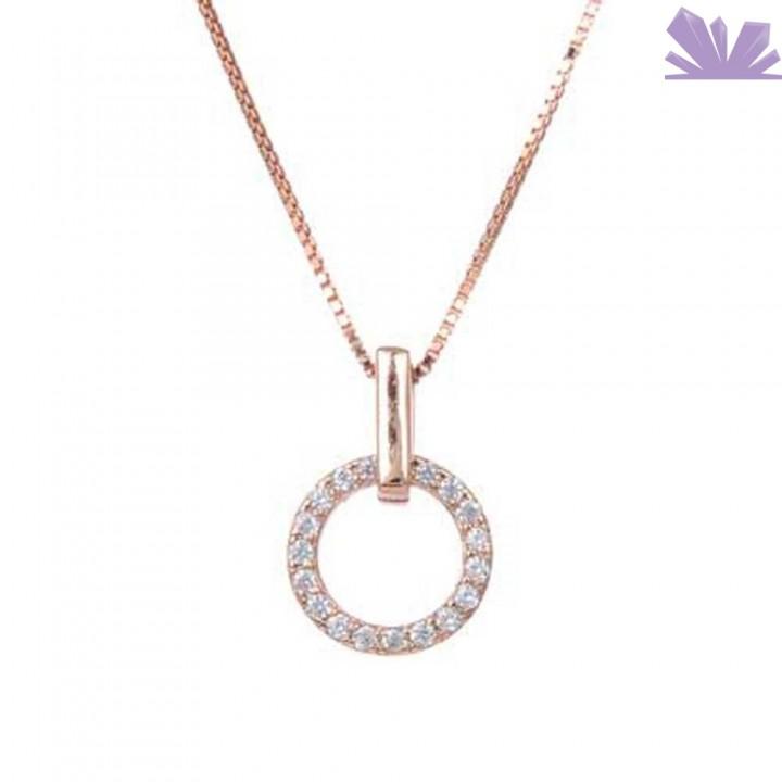 Lantisor argint 925 La Vie en Rose 43 cm