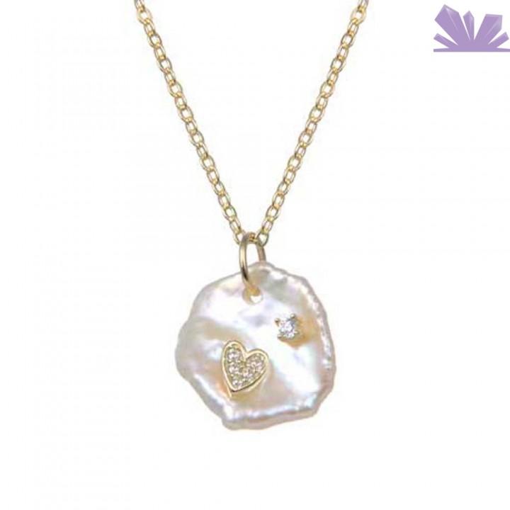 Lantisor argint 925 Heart of Pearl 43 cm