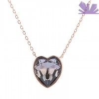 Lantisor argint 925 Heart of Shadowland 44 cm