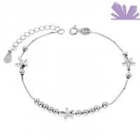 Bratara argint 925 Dancing Flowers 20.5 cm