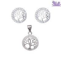 Set argint 925 Tree of Life 1.3 cm