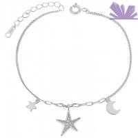 Bratara argint 925 Silver Stars 19 cm